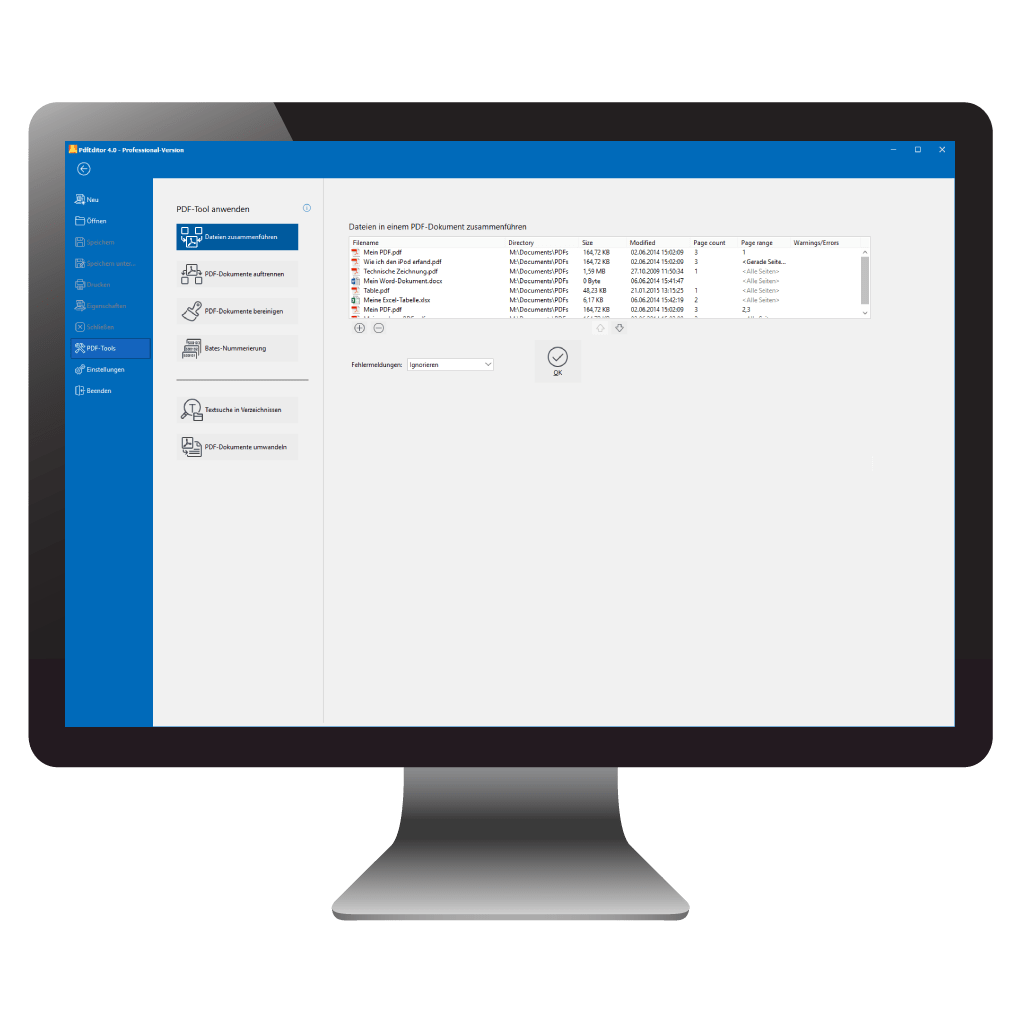 PDF Dokumente mit PdfEditor zusammenfügen und auftrennen