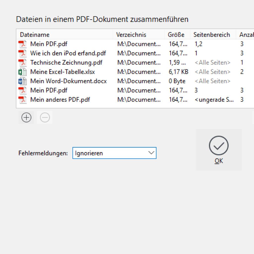 Screenshot (Zoom): PDF und andere Dokumente zusammenführen
