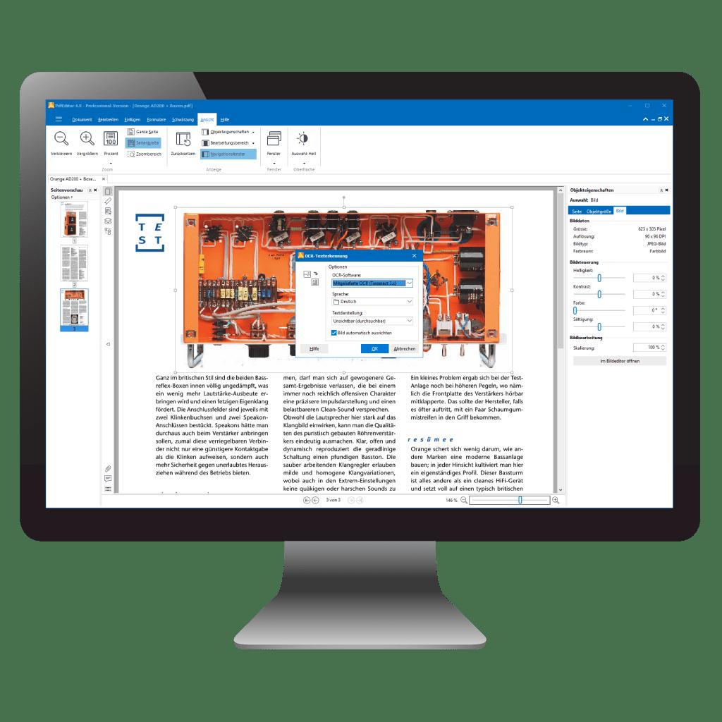 Durchsuchbare PDFs bereitstellen mit PdfEditor