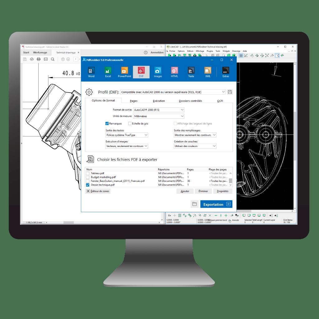 Comparaison: PDF en CAO / AutoCAD (PdfGrabber)