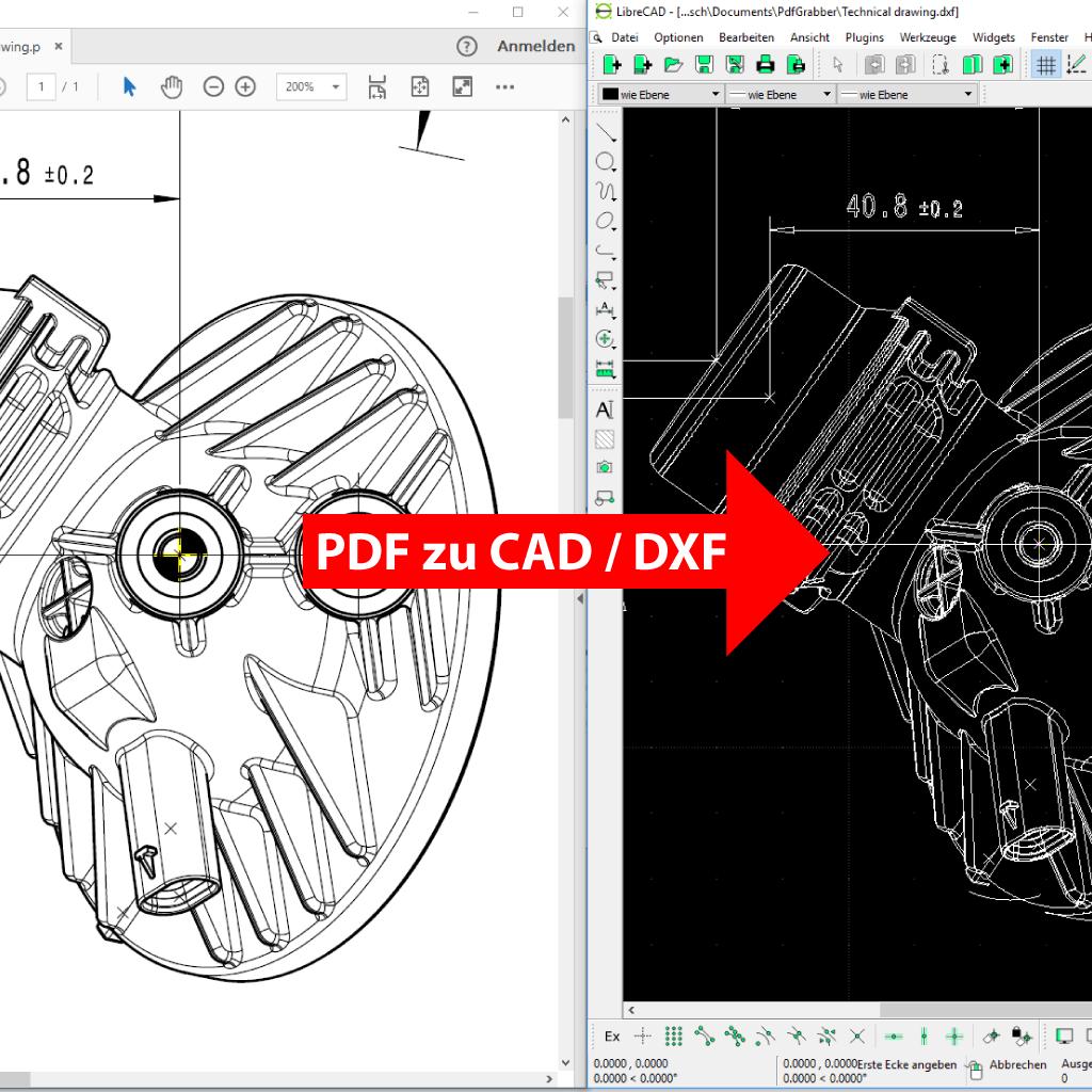 Vergleich: PDF in CAD umwandeln mit PdfGrabber