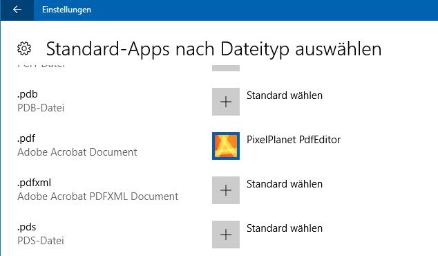 FAQ: PdfEditor als Standard-Anwendung für PDF festlegen